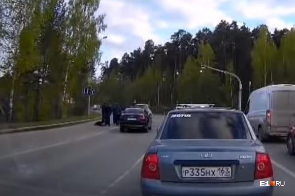 Драка произошла во время дорожной пробки