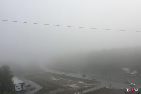 Туман накрыл Челябинск второй раз за первую неделю осени