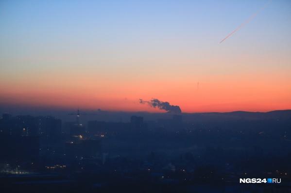 Ядовитая дымка держится над городом со вчерашнего дня