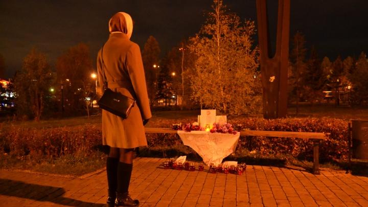 У Успенского собора появился мемориал погибшим в Керчи