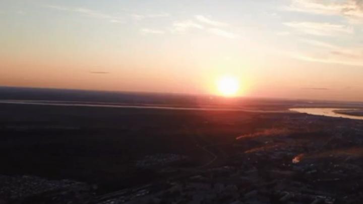 Сверху виднее: жители Лесосибирска сняли видео с красивыми видами на свой город и Енисей