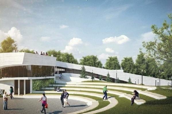 Эскиз будущего спортивного комплекса