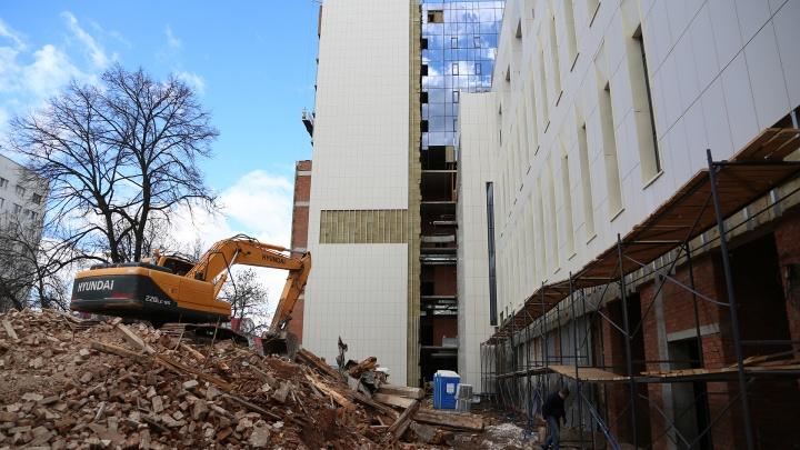 В Уфе с землей сровняли бывшее здание Полежаевского пансиона