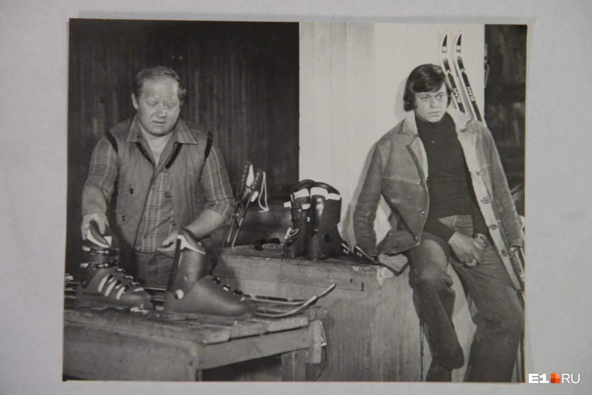 Визбор и Караченцов на съёмках