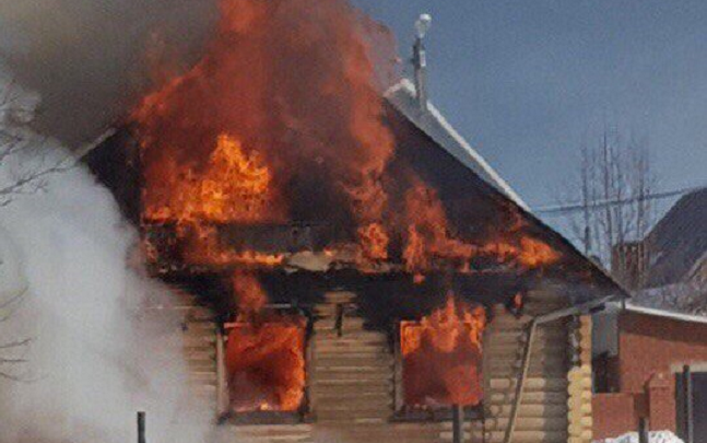 В Башкирии сгорел частный дом