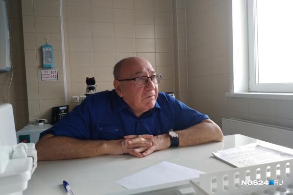 Борис Замощик больше 50 лет работает в онкодиспансере Красноярска