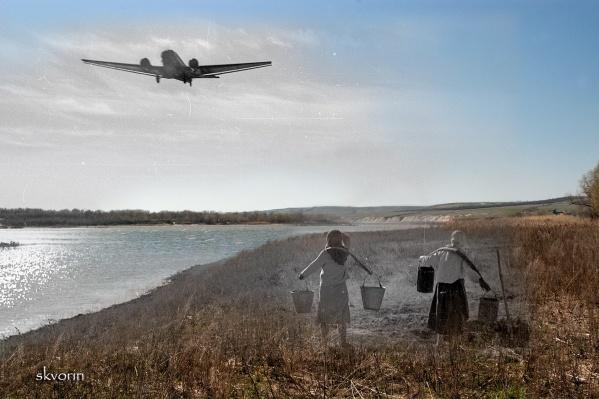 Дон. Две женщины. Junkers-52. 1942 год<br>