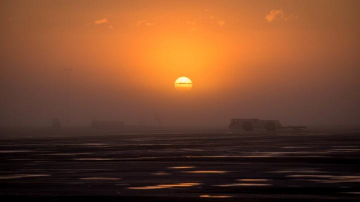 Густой туман остановил авиасообщение с Новосибирском