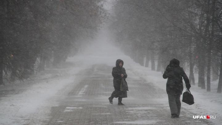 Башкирию завалит снегом: МЧС республики объявило в регионе штормовое предупреждение