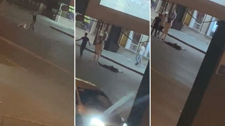 В центре Тюмени водитель с пассажиркой жестоко избили пару прохожих. Их оставили лежать на асфальте
