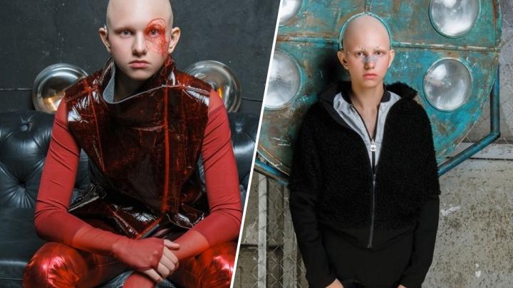 Снимок с красноярской моделью без волос участвует в престижном фотоконкурсе