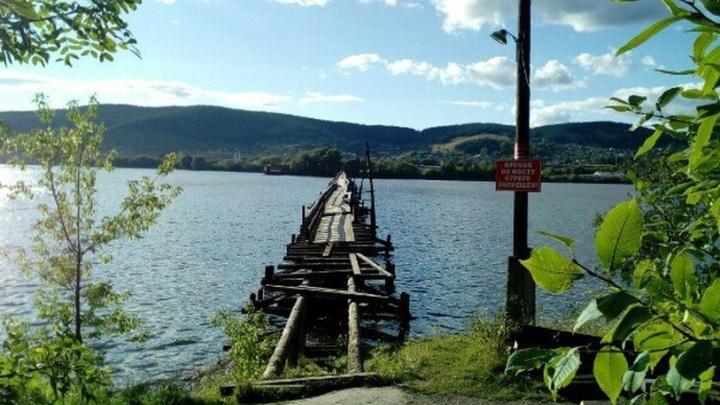 В Башкирии разваливается самый длинный в стране деревянный мост