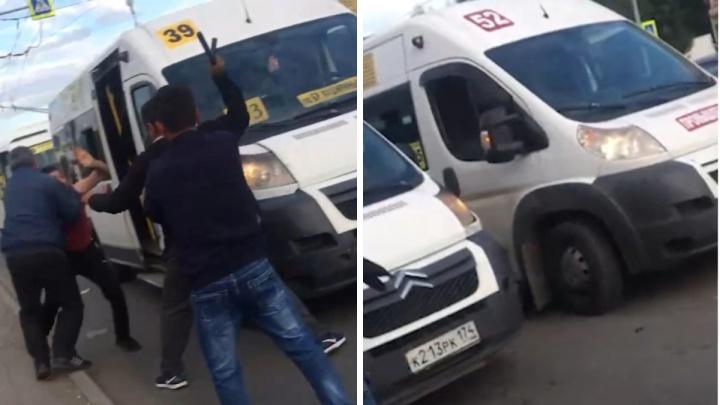 «Бил резиновой дубинкой»: в Челябинске маршрутчики устроили драку из-за пассажиров