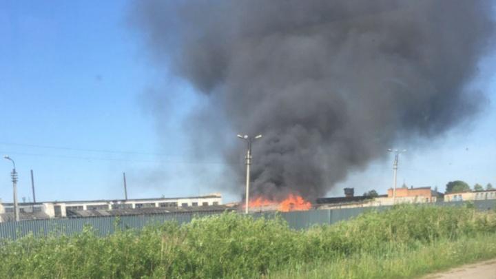 Столб чёрного дыма: в рыбинской колонии случился крупный пожар