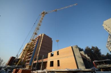 17-этажная секция достроена до уровня 2-го этажа.