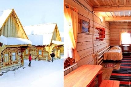 Отдых в деревянных теремах и избах — все выполнено из натурального дерева. Теплые благоустроенные 1-, 2-, 3-, 4-местные номера