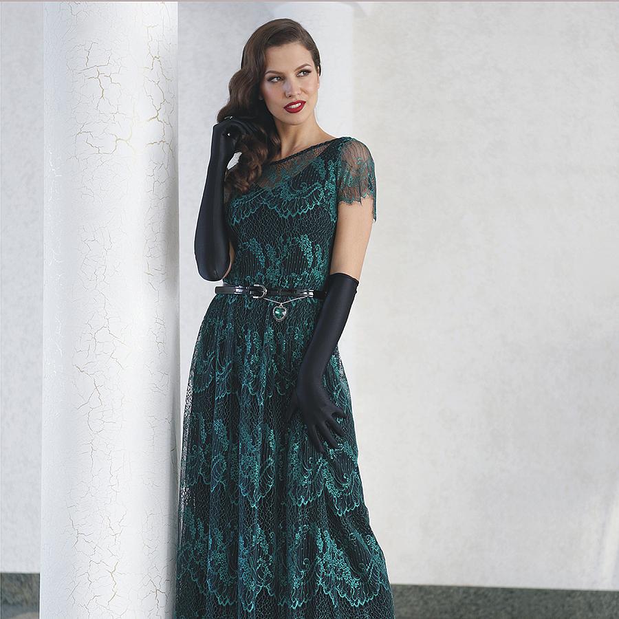 Кружево шантильи на платье