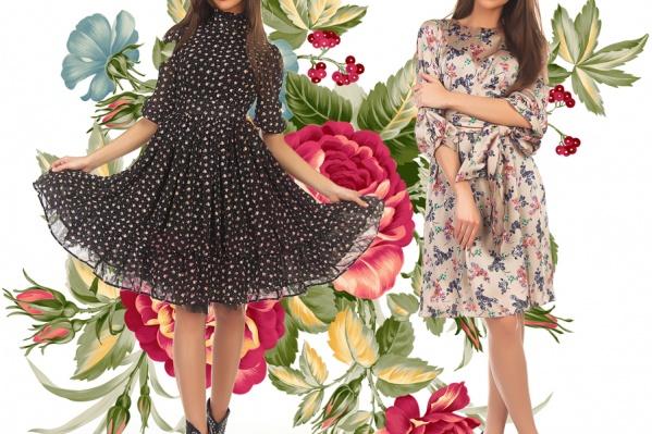 Хит весеннего гардероба — платье с цветочным принтом. Выберите ли вы летящий фасон или модель по фигуре, мелкий рисунок или россыпь крупных бутонов, шифон или атлас — главное, чтобы наряд был по душе! Платье слева <price>4000 руб.</price>, справа — <price>3400 руб.</price>