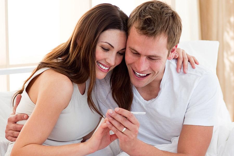 тест на беременность положительный