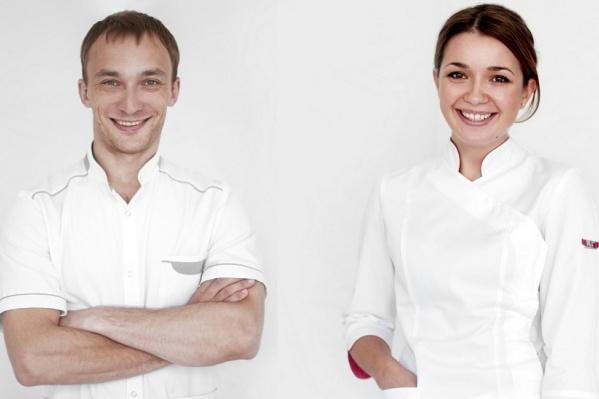 Стоматолог-терапевт А.К. Ужаков и врач-гигиенист М.В. Хрущёва
