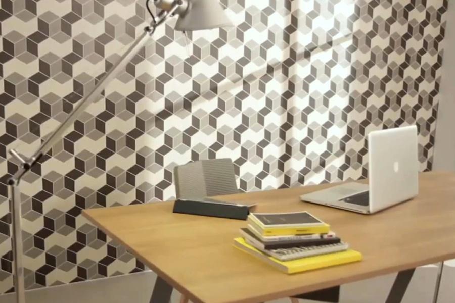 плитка для кухни с геометрическим рисунком