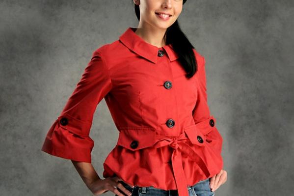 Куртка из смесовой ткани: стоит обратить внимание на интересную цветовую палитру в этом изделии, — 2580 руб.