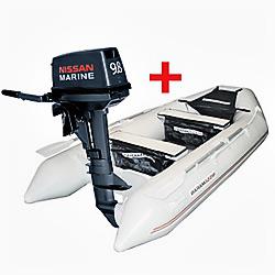 комплект лодка мотор ниссан