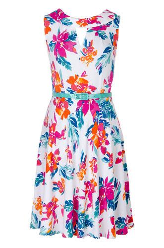 Платье на белом фоне цветы