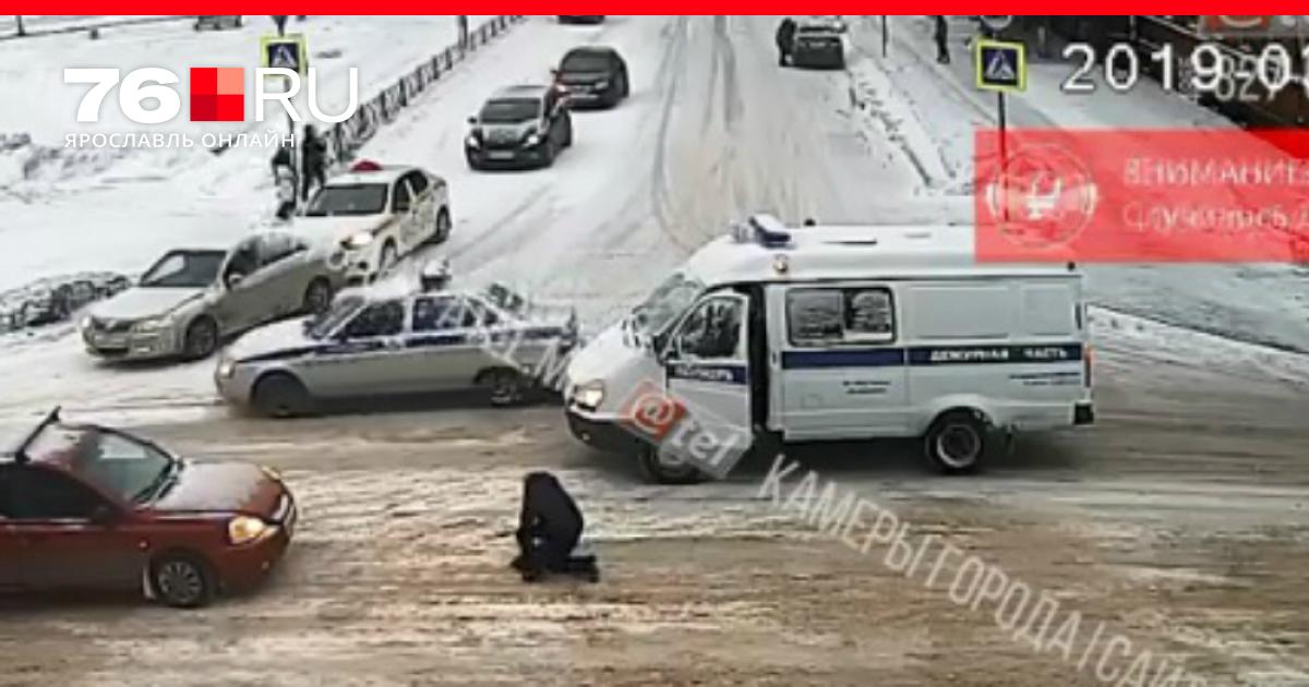 Женщина полицейский попала в аварию г ярславль